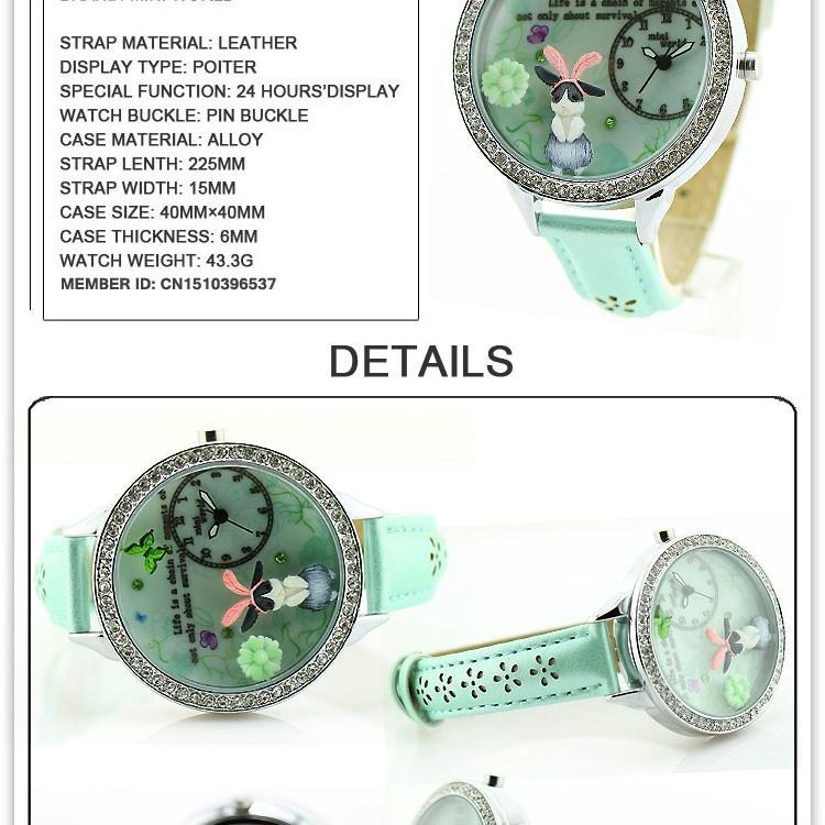часы круто новый южная корея аутентичный мини-часы бренд часы оптовая продажа двухэтажных стекло леди наручные часы