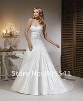 элегантный высокое качество платье-линии милая taft с ручной работы цветы Уэйд платье мазо-a3467