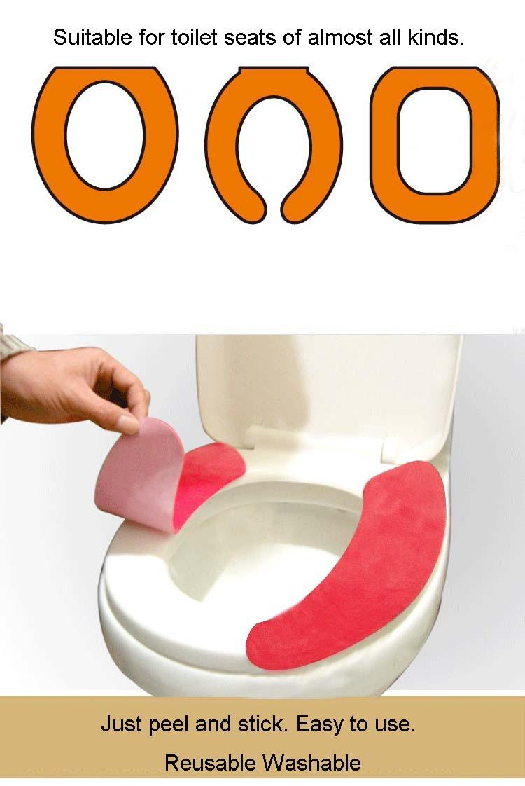 12 пар/лот портативный вставить цветной бархат утолщение комфорт стирка туалет подушки сиденья сиденье для унитаза коврик