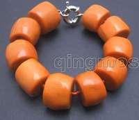 """красивый! большой 15-20 мм натуральная вкусный ЛТ оранжевый натуральный коралловый длинные 8.5-9 """"браслет-bra225 оптовая/розничная продажа бесплатная доставка"""