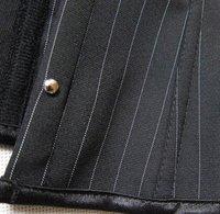 женщины сексуальный черный полоска корсет бюстье юбка, леди женское бельё bodyshaper одежда