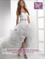 awb0244 самый Seal милая короткий передний долго назад белый органзы свадебные платья