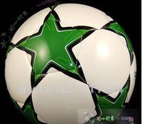 бесплатная доставка зеленый звезда футбольный мяч, официальный размер и вес, популярный стиль для футбольных болельщиков