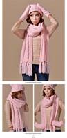 2015 зимы нового зимнего лежал цветы шерсть и теплые женские шляпа шарф перчатки из трех частей бесплатная доставка