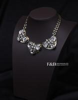яркость роскошь кристалл ожерелье себе ожерелье винтажный ожерелье позолота ювелирные изделия