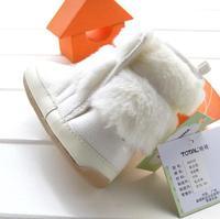 новый зима популярные девушки бежевый боути теплый обувь ботинки малыша подошва резиновая нескользящая снегоступы 3 пара/лот 8883b