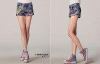 лето новый хлопок джинсы оригинал цвета национальные ветер вышитые джинсовые шорты женские шорты