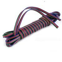 бесплатная доставка 5 м 4 контакт. из светодиодов для RGB полосы света кабель-прод дл