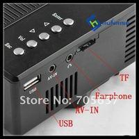 из светодиодов цифровой проектор для дома театр аудио с USB и SD и идеально подходит для ДВД-дисков 320 * 240 110 - 240 в 50 / 60 гц для дома театр проектор