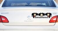 новый смешно и прекрасный путать куклы в задней части автомобиля наклейки украшения н-327