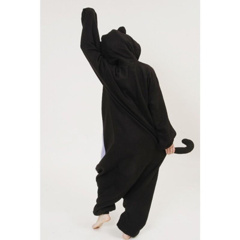 7b3cf4e7d1 Polar Fleece Spooky cat Onesies Pajamas Rompers Woman Animal Cosplay ...
