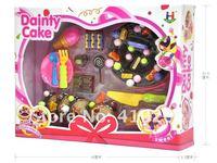 шоколадные пирожные игрушки, фруктовый торт, развивающие игрушки играть делать вид, что еда