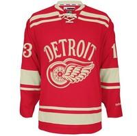 зимняя классика джерси детройт 13 павел дацюк красный хоккей джерси в том числе все сшиты в наличии