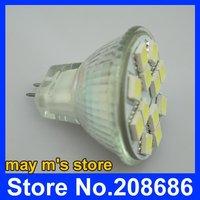 бесплатная доставка 12 смд 5050 из светодиодов энергосберегающие лампы лампы 12 в чистый белый галоида mr11 G4 с qcpj0004