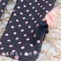 бесплатная доставка зима новорожденных девочек леггинсы брюки, с бантом цветок детские толстый бархат сладкий леггинсы брюки