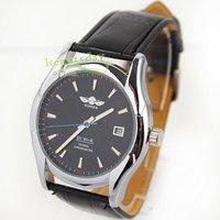 военная черный хронометр автоматическая дата мужские часы selfwind кожа сша iw580