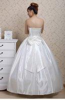 высокое качество Уэйд платье длиной до пола платье невесты вернуться щетка-поезд без рукавов Beetle с летучая мышь цветок 627
