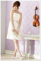 бесплатная доставка! новинка одеваются в бежевый коктейльное платье кружево опт и розница размер с-XXXL осенняя