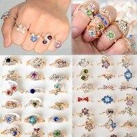 10 шт. значит стиль золото п свадьба свадебные кольца ну watering кристалл регулируемый кольца для женщины