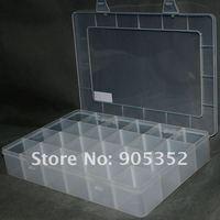 электронные компоненты для хранения, 24 решетки / блоки большой - космос, 22 * 33 * 5.5 см подвижный вагонкой, составные части коробка, # 1183