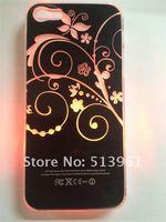 10 шт. красочные изменение логотипа аккумулятор обнаружение светодиодная вспышка лёгкие крышка чехол для iPhone 5 в стили