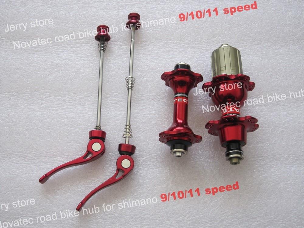 Novatec A271SB F372SB Road Bike Hub Shimano 8//9//10//11Speed 20 24 Hole Skewer Red