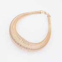 нью-панк ювелирные изделия мода преувеличены коренастый металлическая пружина ожерелье