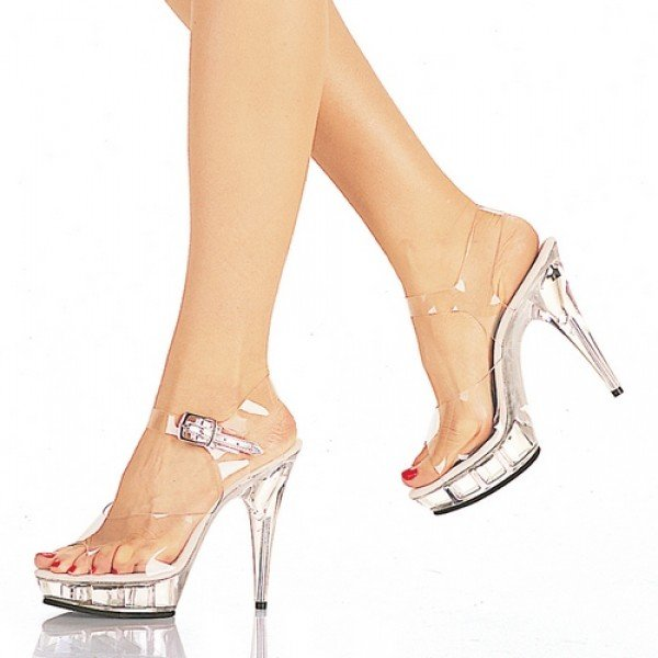 b998de78d3f Must Buy Item! Clear 13cm Sexy High Heel Crystal Sandals