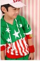 флаг дизайн дети одежда комплект верхний и брюки дети спортивная одежда дети не костюм два цвет