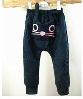 3/25 розн хиты ребенок мило кошка дизайн брюки, дети девушки парни харен брюки, дети осень новые брюки