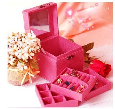 High quality Fashion Imitation Rabbit Hair Jewelry Box For Cute