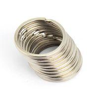 круг кольца брелок железа круглый металлический брелок родием сплит вяжется брелок 30 мм