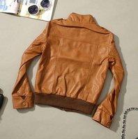 ck0407 ] искусственная кожа на молнии -, кадрированные женская кожаная куртка