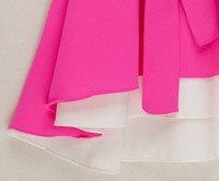 2002 женщины бежевый красный пэчворк цвет блок неправильная без рукавов шифон блузы топы платье ремень