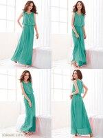 женская bohenmia плиссе волны кружево ремень принцесса шифон макси платье-4