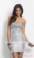 хиты распродажа новый бесплатная доставка с коротким без бретелек блесток dress1200 нарядное платье