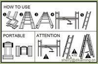 алюминий складной металлическая лестница