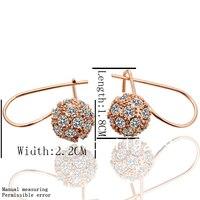 le019 высокая мода роза золото цвет товары подражать проложить мяч серьги-кольца для женщин ювелирных изделий партии рождественский подарок