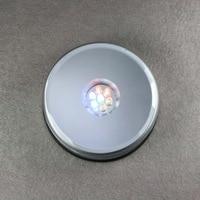 10х диаметр 97 мм уникальный вращающийся кристалл показать подставка 7 свтеодиодный фонарик + 10 шт. зарядное устройство 100 - 240 в сша бесплатная