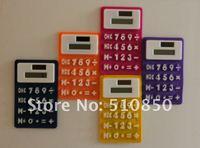 бесплатная доставка фиолетовый силикагель силикона калькулятор гибкий мультфильм мода подарок холодильник магнит калькулятор