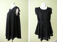 """бесплатная доставка весна и осень одежда для беременных платье для беременных кружево """"розы"""" цветок платье для беременных элегантный мода hm9501"""