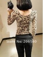 Print Seal леопард с длинным рукавом тонкий футболка dna рубашки