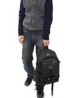 бесплатная доставка, большая емкость мода мужчины студенты рюкзак хозяев путешествия рюкзак спортивный рюкзак + черный, коричневый