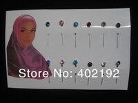 стразы сарф булавки, хиджаб булавки для мусульманской bz064
