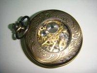 ha0003 Д4.5см механический антикварный карманные часы с цепь микс