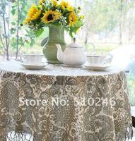 бесплатная доставка квадратные и прямоугольные белье цветок хлопка напечатаны украшения дома ткань столовое белье покрытие стола-скатерти