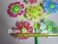 пластик дети 6 круг цветок воды мельница с улыбкой лицо, 55 см * 30 см, были игрушка мельница