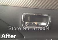 бесплатная доставка внутренний интерьер боковая дверь ручки объемного рамка обложка отделка 4 шт./компл. для Мицубиси Outlander 13 14