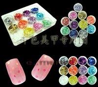 12 цветов блестящие украшения ногтей блеск порошок продукты Bali бумаги для поделки плачет и уф ногтей дизайн 068
