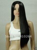 jewelry_wig $ черный сексуальный длинная прямой косплей парик + кепка w1311